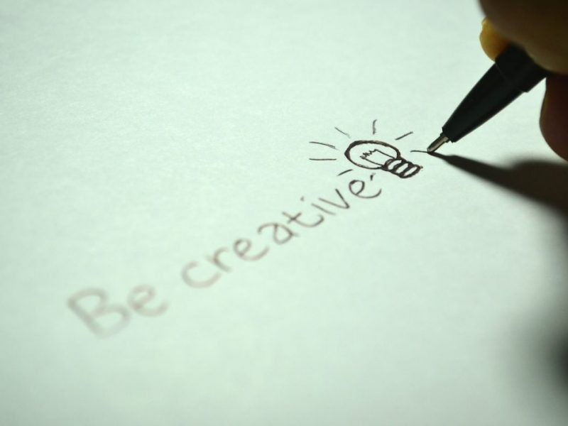 be creative written on paper